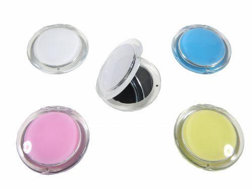 Καθρεφτάκι τσάντας 2πλης όψεως διάφανο χρώματα
