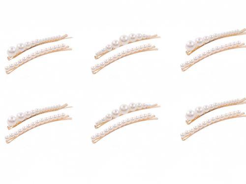 Pearled Hairpin, set 2 pcs