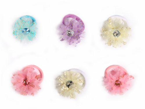 Παιδικό Λάστιχο Λουλούδι με Στρας