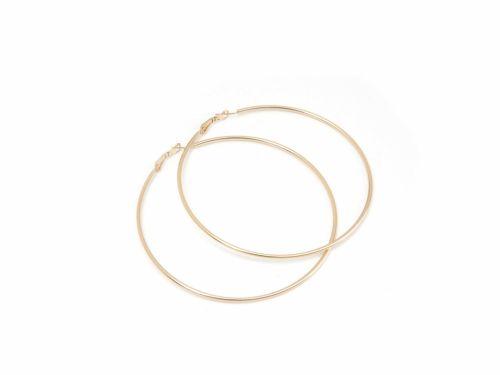 Σκουλαρίκι Κρίκος Χρυσός 90mm