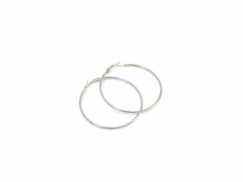Σκουλαρίκι Κρίκος Ασημί 60mm