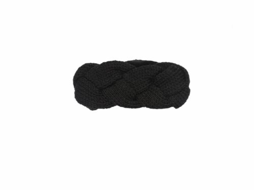 Knitted Black Headband