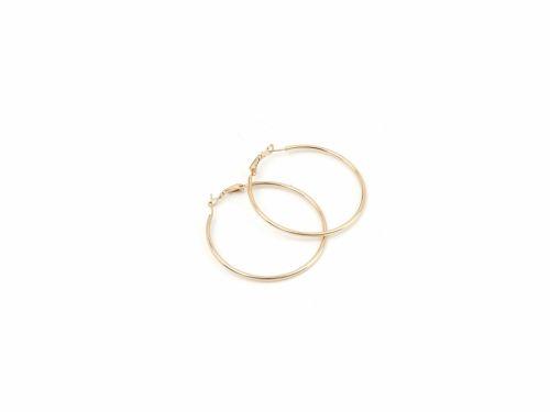 Σκουλαρίκι Κρίκος Χρυσός 50mm
