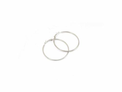 Σκουλαρίκι Κρίκος Ασημί 50mm