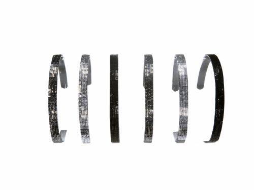 Aliceband Black plastic with Strass