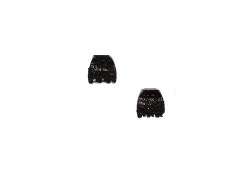 Κλάμερ με Μαύρα Στρας 4 cm