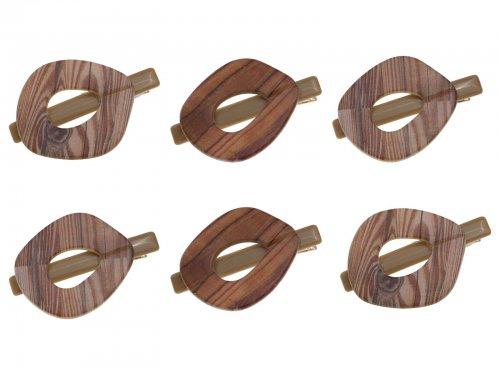 Κλιπ μαλλιών με ξύλο