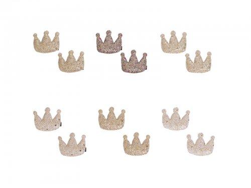 Hair clip for girls crown set 2 pcs