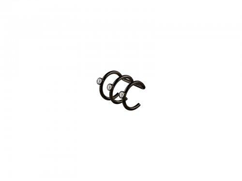 Fake σκουλαρίκι ear cuff τριπλό μαύρο