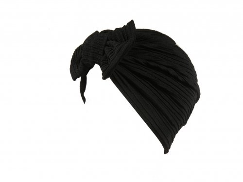 Turban hat Black with Bow