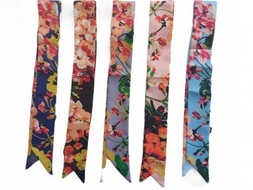 Μαντήλi μαλλιών floral 90*5 cm