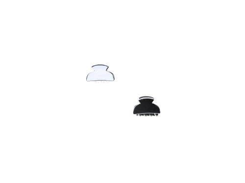 Κλάμερ 3.5 cm Άσπρο-Μαύρο