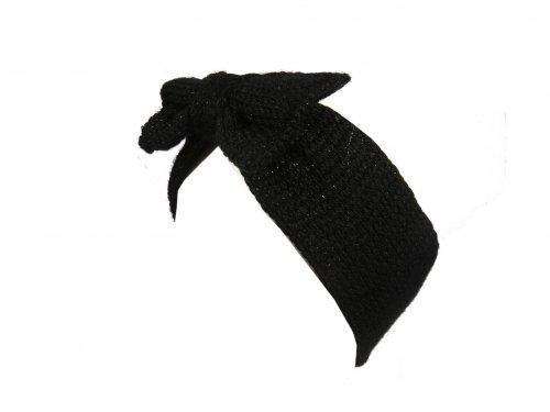 Κορδέλα Τουρμπάνι πλεκτή Μαύρη Φιόγκος