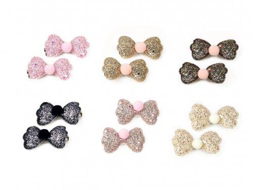 Hair clip for girls bow  set 2 pcs