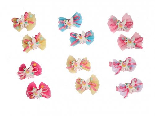 Clip for girls, Unicorn set 2 pcs