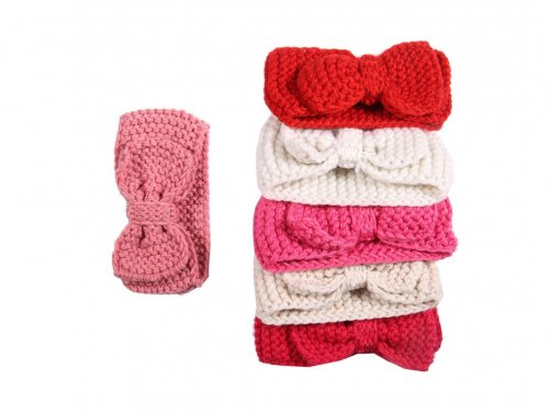 Knitted Headband with Bow for girls