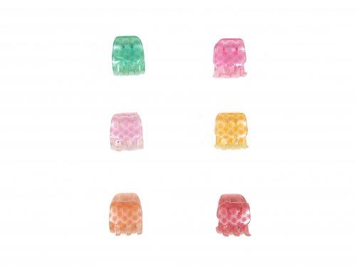 Κλάμερ 3.5 cm Χρώματα-Σχέδιο Λουλουδάκια