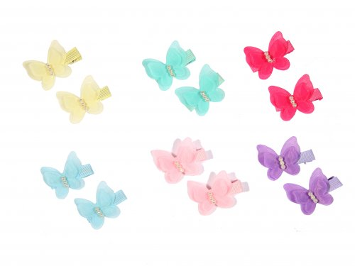 Clip for girls butterfly set 2 pcs
