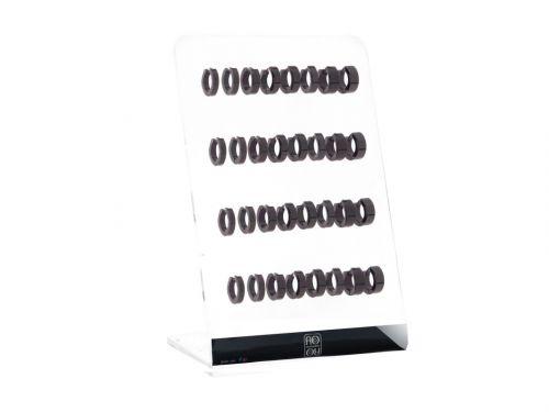 Σκουλαρίκι Κρίκος αυτιού Stainless Steel μαύρο 3/4/5 mm