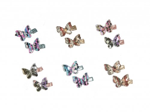 Clip for girls, butterfly  set 2 pcs