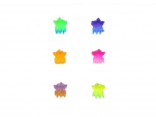 Κλαμεράκια 3 cm Χρωματιστά Λουλούδια