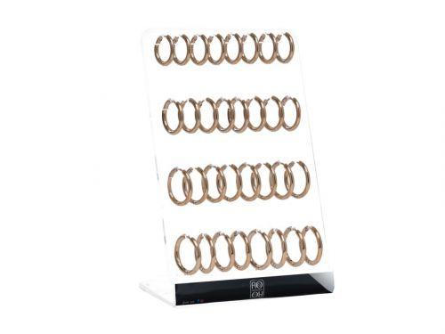 Σκουλαρίκι Κρίκος αυτιού Stainless Steel rosegold 2.5*12/14/16 mm