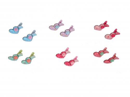 Clip for Girls set 2 pcs, Heart shaped